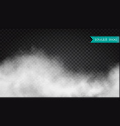 fog or smoke seamless transparent special effect vector image