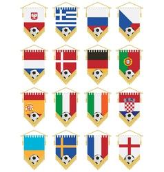 Football flag pennants vector