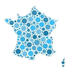 France map mosaic of circles vector image