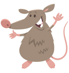 Funny rat rodent animal character vector