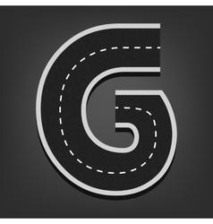 G letter road font vector