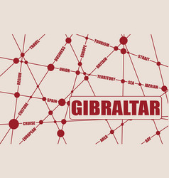 gibraltar relative tags cloud vector image