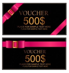 Gift Voucher Template For Your Business vector image