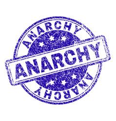 Grunge textured anarchy stamp seal vector