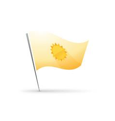 hot sun symbol on flag vector image