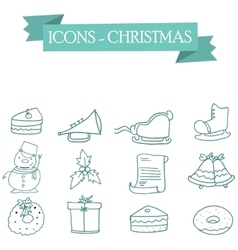 Icon of Christmas holiday collection stock vector image
