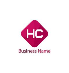 initial hc letter logo design vector image