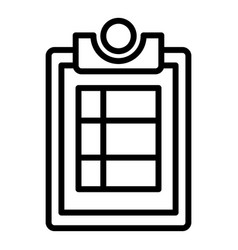 Inventory board icon outline style vector