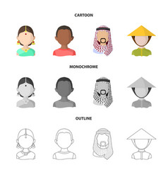 Isolated object of imitator and resident icon set vector