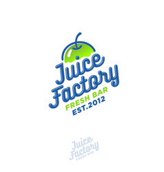 juice factory logo smoothie detox juice apple drin vector image