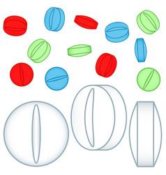 medicine tablet icons vector image