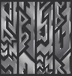 metal geometric seamless pattern vector image