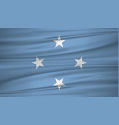 Micronesia flag flag micronesia blowig in the vector