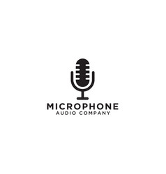 microphone logo icon template vector image