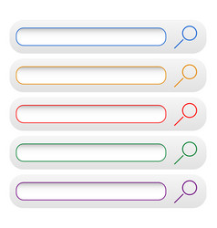 minimal search bars search button vector image
