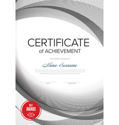 modern certificate vertical template vector image