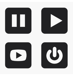 modern play icons set vector image
