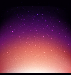 Night starry sky violet space background vector