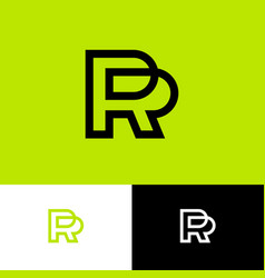 p and r logo linear monogram public relations vector image
