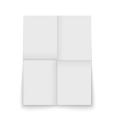 paper sheet folded and isolated vector image
