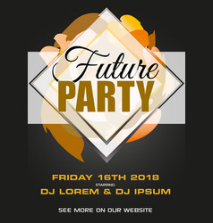 Party black and gold flyer presentation with vector