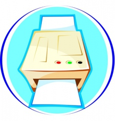 photostat machine vector image