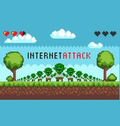 Pixel game interface hacker attack vector