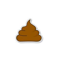 poop icon vector image