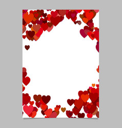 red colored random heart page background design vector image