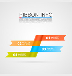 Ribbon list of options vector