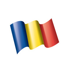 romania flag on a white vector image