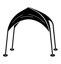 Roof tent icon simple style vector