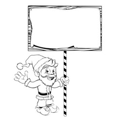 Santa claus holding sign vector
