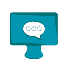 screen with chat bubble vector image