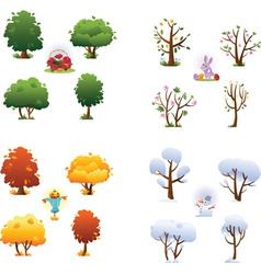Set four seasons vector