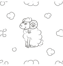 sheep fly in the sky vector image