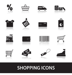 Shopping icons eps10 vector