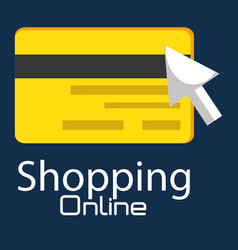 Shopping online with credit card vector