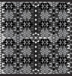 silver tapestry with damask motifs vector image