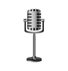 single microphone icon image vector image