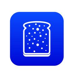 slice of white bread icon digital blue vector image