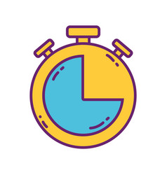 stopwatch time buisness strategy digital marketing vector image