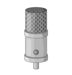 Studio microphone icon monochrome vector
