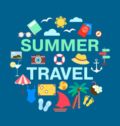 summer travel concept collection marine holidays vector image