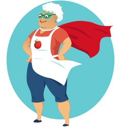 Super grandma vector
