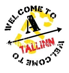 Tallinn stamp rubber grunge vector