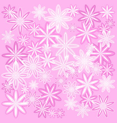 texture of delicate pink flowers with a vector image