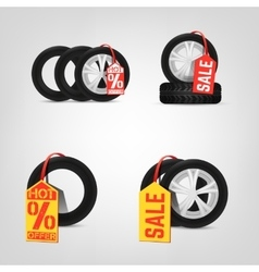 Tires Sale vector image