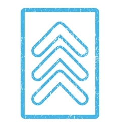 Triple Pointer Up Icon Rubber Stamp vector