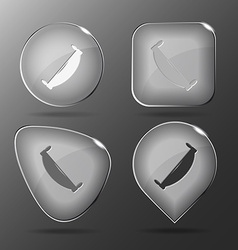 Two-handled saw Glass buttons vector image